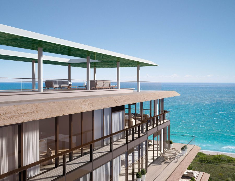 The penthouse has 360-degree ocean views.